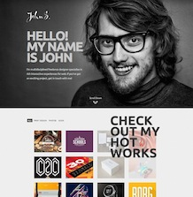 GK John - качественный шаблон для портфолио